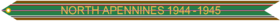 Campaign Streamer WWII North Apennines 1944–1945
