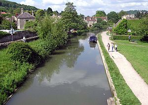 Kennet and Avon Canal - The canal at Bathampton, near Bath