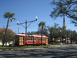 Mid-City New Orleans - Canal Streetcar in Mid-City