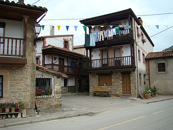 Popular architecture in Cosío, Cantabria (Spain)