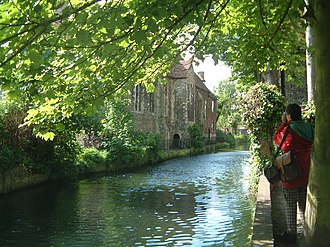 River Stour, Kent - A branch of the Stour passes Blackfriars in Canterbury
