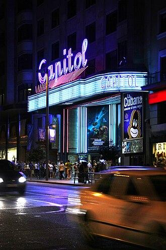 Cinema of Spain - Cine Capitol, Gran Vía, Madrid
