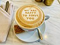Cappuccino at Cafe Bristol, Bristol Hotel, Warsaw, Poland in 2019.jpg