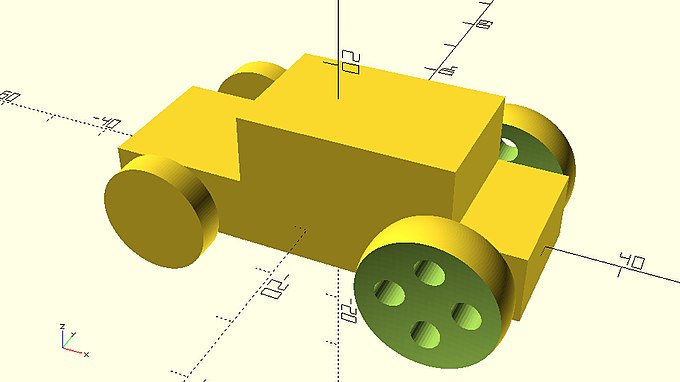 Car with different wheels from used modules.jpg