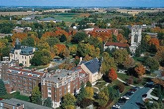 Carleton College - Aerial view of the campus