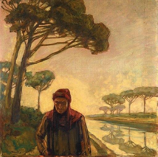 Carlo Wostry - Dante in pineta