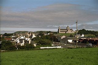 Carndonagh Town in Ulster, Ireland