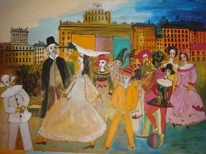 Khachik Abrahamyan - Image: Carnival 2011 Oil on Paper 62cmx 86cm