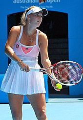 Caroline Wozniacki at the 2011 Australian Open1 crop.jpg