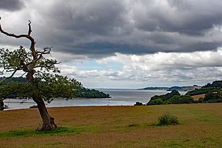 Carrick Roads estuary of the River Fal in Cornwall, England