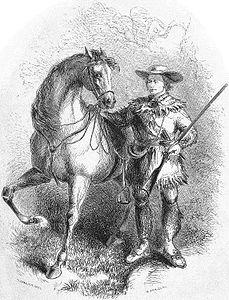 Carson and his horse Apache