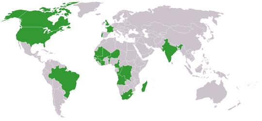 carte du monde et membres correspondants internationaux en 2010