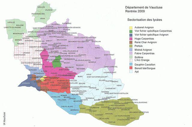 Fichier carte lycees wikip dia - Le journal du vaucluse ...