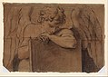 Cartoon Fragment for Adolescent Angel Leaning on a Tablet or Closed Book MET DP337812.jpg