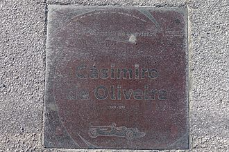 Casimiro de Oliveira - Plaque to Casimiro de Oliveira in Porto, Portugal