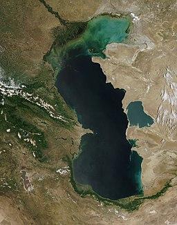 Satellitbillede over Det kaspiske hav