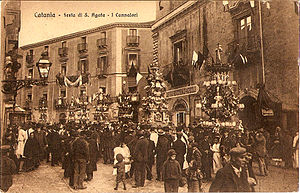 Agatha of Sicily - Festival of Saint Agatha in Catania (1915)