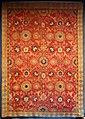Caucaso sud-occidentale o persia nord-occidentale, tappeto ridotto a motivo afshan, xvii-xviii secolo.jpg