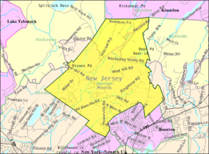 Boonton Township, New Jersey - Image: Census Bureau map of Boonton Township, New Jersey