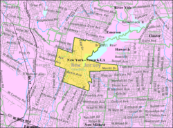 Census Bureau map of Oradell, New Jersey