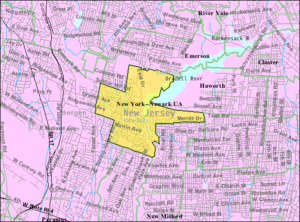 Oradell, New Jersey - Image: Census Bureau map of Oradell, New Jersey