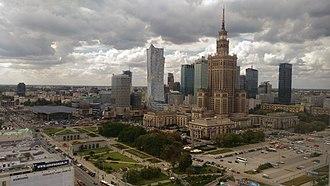 Śródmieście, Warsaw - Image: Centro financiero varsovia