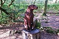 Cerflun Ci Portmeirion Carving of a Dog - geograph.org.uk - 708515.jpg