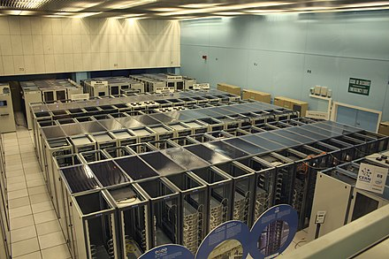 The CERN data centre in 2010 housing some WWW servers Cern datacenter.jpg