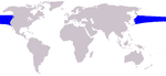 Northern right whale dolphin range
