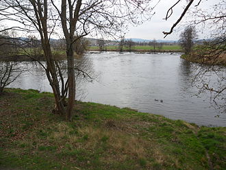 Chamb - Mouth of River Chamb into Regen River close to the town Cham