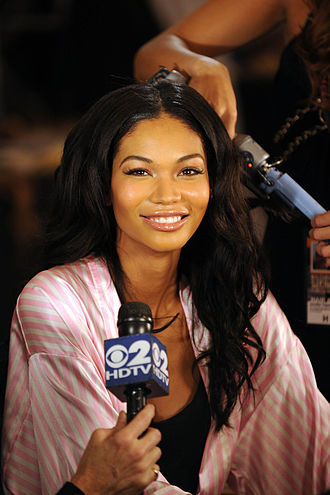 Chanel Iman - Iman at the 2009 Victoria's Secret fashion show at The Armory in New York City