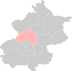 Location of Changping District in Beijing