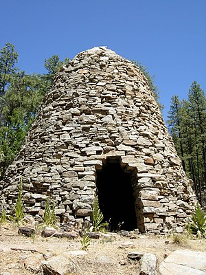 Bradshaw Mountains - An abandoned charcoal kiln, near Walker, Arizona
