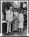 Charles Evans Hughes, wife, and daughter, standing on lawn LCCN98507080.jpg