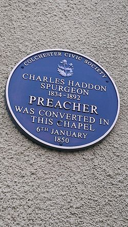 Photo of Charles Haddon Spurgeon blue plaque