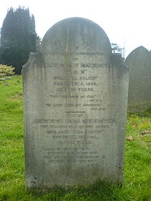 Photograph of Gravestone