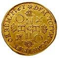 Charles IX au nom de Henri II double henri d'or 1561 revers.jpg