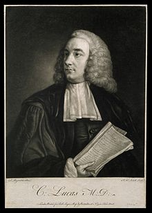 Charles Lucas Charles Lucas. Mezzotint by J. McArdell, 1755, after Sir J. Wellcome V0003705.jpg