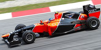 Charles Pic - Pic driving for Marussia at the 2012 Malaysian Grand Prix.