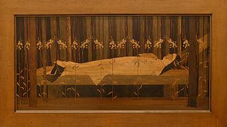 Sainte Odile sur son lit de mort