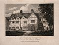 Charterhouse Hospital, London; half-timbered houses. Engravi Wellcome V0013034.jpg