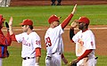 Chase Utley, Raúl Ibáñez and Ryan Howard NLCS2009.jpg