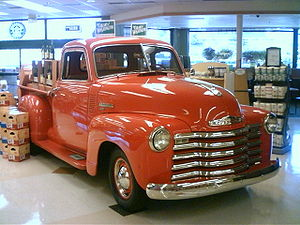 Chevrolet Thriftmaster 194X pickup truck at QF...