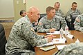 Chief of Staff of the U.S. Army Gen. Raymond T. Odierno, listens to a command briefing from seven brigade commanders and Maj. Gen. Stephen R. Lanza, 7th Infantry Division commanding general, at the division 130626-A-IP604-924.jpg