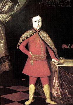 Ritratto di Francesco II Rákóczi all'età di 8 anni