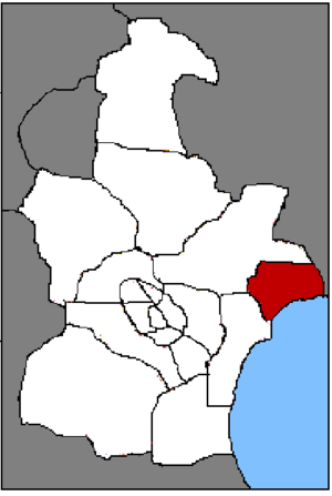 Hangu District, Tianjin - Location of Hangu on Tianjin.