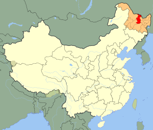 An SVG map of China with Heilongjiang province...