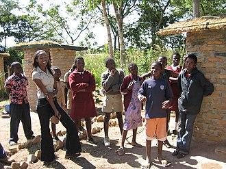 Education in Zimbabwe - School children outside of Chisungu secondary school.