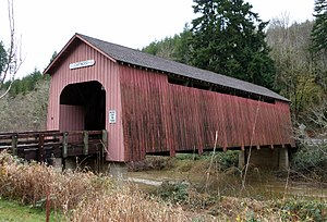 National Register of Historic Places listings in Lincoln County, Oregon - Image: Chitwood Bridge Oregon