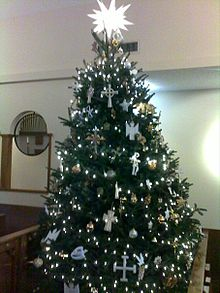 A Chrismon Tree In The Nave Of St Albans Anglican Cathedral Oviedo Florida